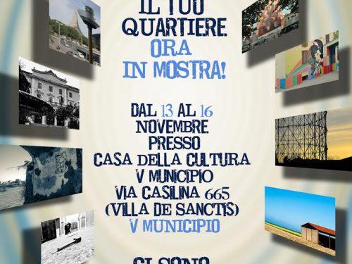 Giovedì 13 novembre inaugurazione della mostra concorso 'Raccontaci il tuo quartiere'