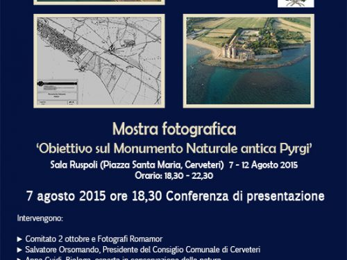Mostra 'Obiettivo sul Monumento Naturale antica Pyrgi' a Cerveteri