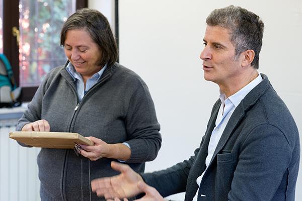 Claudio Corrivetti e Cristiana Vazzoler